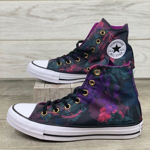 Converse CTAS HI Black/Pink POP/White
